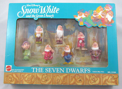 Walt Disney's Snow White and THE SEVEN DWARFS Figurines by Mattel - New in Box