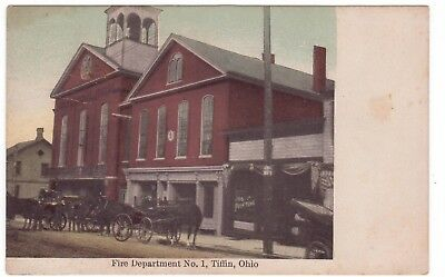 1909 View of Fire Department Building Number 1 in TIFFIN, OHIO