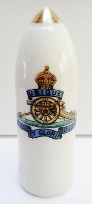 Goss Style Shelley Crested WWI 'Model of 9-2 Shell' Royal Artillery Crest