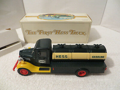 Vintage THE FIRST HESS TRUCK GASOLINE TANKER w/ Working Lights and Original Box