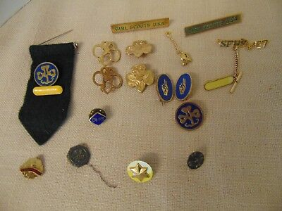 Vtg Girl Scout & Brownie Pins PLUS LOT