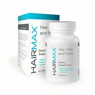 HairMax Hair, Skin & Nails, Hair Regrowth Supplements 60 Caps, Hair Loss Treatme