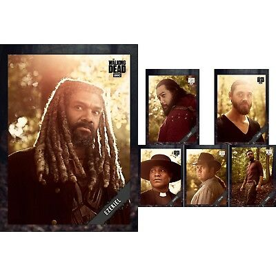 TWD SEASON 9 PORTRAITS WAVE 2 (GREY) SET OF 5 + MELD AWARD Walking Dead Digital