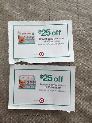 (2) $25 Off $50 Honest Baby Purchases at Target Exp 10/31