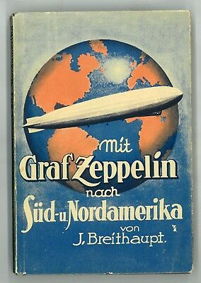 Graf Zeppelin to South / North America, Brazil German Book Blimp Airship VF cond