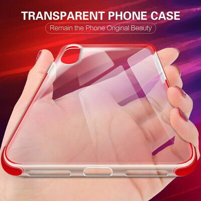 Premium Shockproof Clear Slim Bumper TPU Case Cover For iPhone ALL MODELS