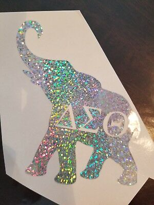 Large Elephant Decal with Greek Letters Delta Sigma Theta