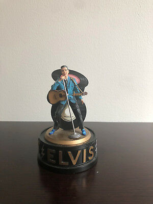 1999 Elvis Presley Blue Suede Shoes Music Box Dome Figurine