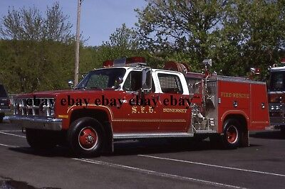 Fire Apparatus Slide - Somerset PA - 1982 GMC American LaFrance Engine