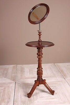 A Victorian Mahogany Shaving Stand With Telescopic Mirror