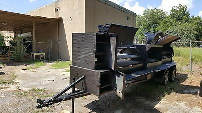 Night T Rex BBQ Smoker Cooker Grill Trailer Mobile Food Truck Cater Business
