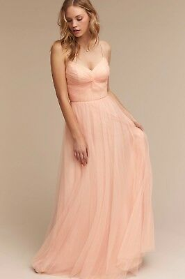 42a55e7e0cd8 NEW $260 BHLDN Watters Tinsley Bridesmaids Dress Size 2 Blush Pink Tulle