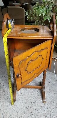 Antique Vintage Smoking Stand - wooden