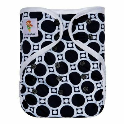 KaWaii Baby Happy Leak-Free One Size Printed Diaper Cover Reusable 8-36 lbs