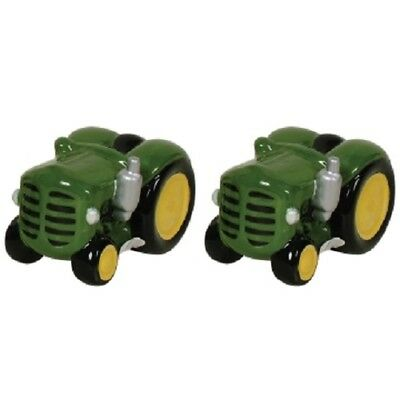 Ceramic Novelty Collectible Salt and Pepper Shakers Shaker Set Dakota Tractor