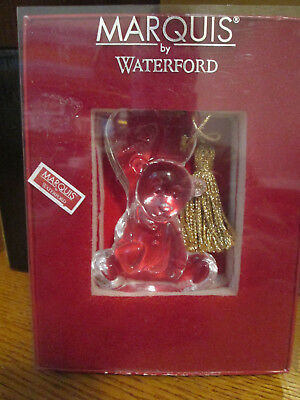 Waterford Marquis Crystal 2008 Baby's First Christmas Teddy Bear Onament NIB