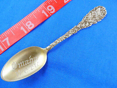 Antique Rare Wctu Women's Christian Temperance Union Sterling Souvenir Spoon
