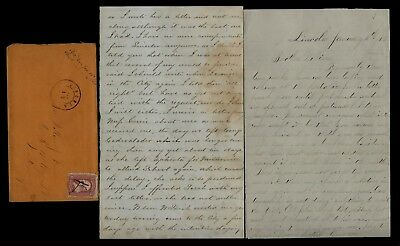 186th Pennsylvania Infantry CIVIL WAR LETTER Draft News from Lincoln, PA Etc...