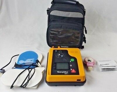Welch Allyn aed10 defibrillator with case, needs new battery