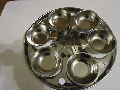 Revere Ware Stainless Steel Egg Poacher Insert with 6 Egg Cups