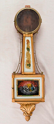 American weight driven gilt front presentation banjo clock case only @ 1815 Good