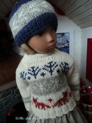 """Sweater + Hat for Sasha Doll,"""" Fair Isle Fox Cubs."""" by """"The Spin I'm In"""""""