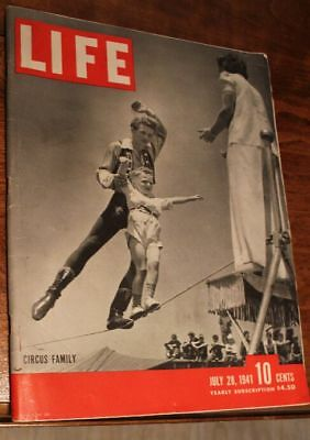 Circus - Life Magazine Major Feature Article Ringling Barnum 1941 - Entire Issue