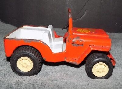 Vintage Late 1960's Early 1970's Tonka Jeep Wrangler 7 Inches Long Metal