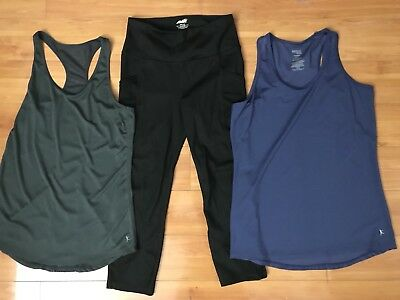 #53 Womens Avia Capri Legging Danskin Now Semi fitted Tank Tops Size Small 4/6