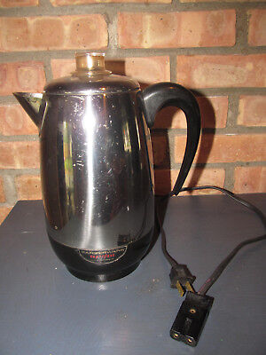 Vtg Farberware 138 SUPERFAST 2-8 Cup Electric Coffee Percolator Yonkers NY  USA