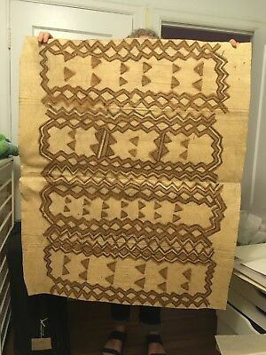 African Bark cloth, hand painted Approx 35 x 42