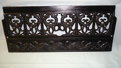"(2) piece  20"" CAST IRON FIREPLACE BUMPER SURROUND INSERT SET"