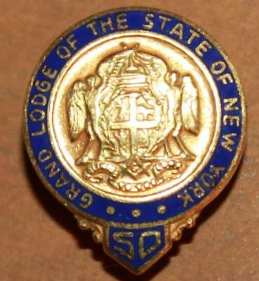 Vintage Grand Lodge of the State of New York 50 Year Member Mason Pin-Freemason