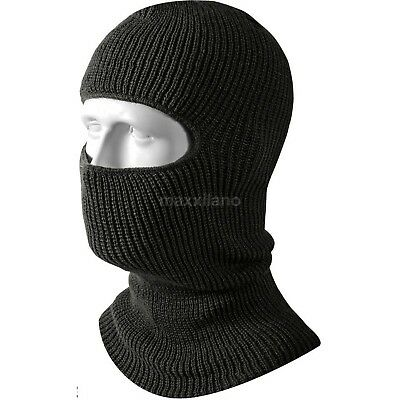 Face Mask Ski Mask Winter Cap 1 Hole Balaclava Hood Army Tactical Warm Black