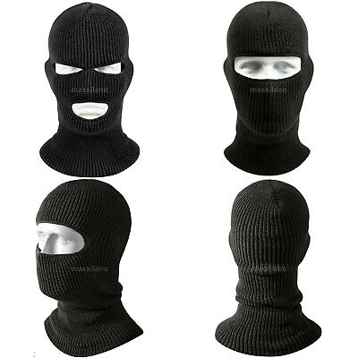634a2ae5f9cfab Face Mask Ski Hat Winter Cap 1-3 Hole Balaclava Hood Army Tactical Warm  Black