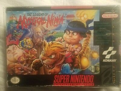 SNES The Legend of the Mystical Ninja-- BOX ONLY- Missing Side Flap