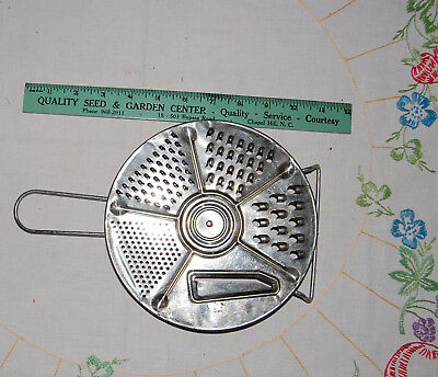 VTG Metal Circular Grater 5 hole sizes Handle