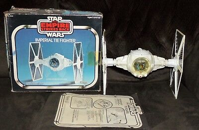 Vintage Star Wars Imperial Tie Fighter COMPLETE WORKS Empire Strikes Back Box