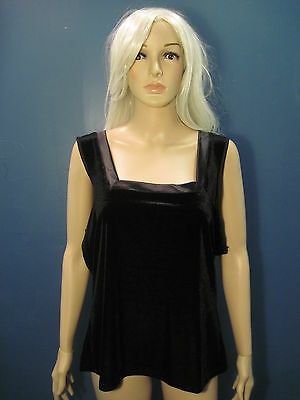 XL black velour style camisole blouse by CINEMA EXOILE