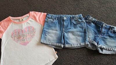 Size 10 Girls 3 pieces Shorts And Top Target Piping Hot