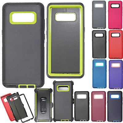 For Samsung Galaxy Note 8 Case Cover Shockproof Fits Otterbox Defender Belt Clip