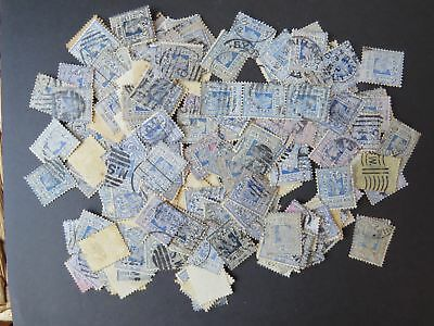 Nsw Early 1800-1900S 2D Blue Qv Large Lot X200 Stamps (Ga81)
