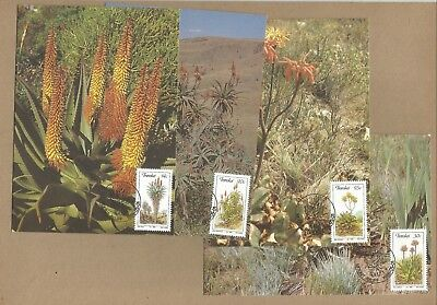 Transkei: Set 4 FDP'cards + Commem. cover with M/S on + 15 diff used. (Ref 308)