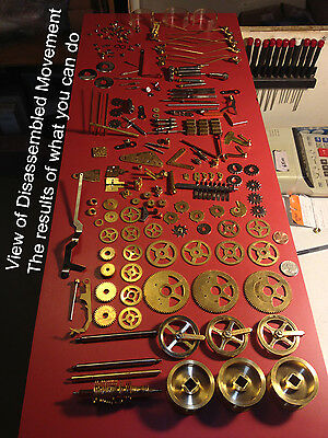 Hermle 1161-853 114cm Grandfather Clock Works Steampunk gear Art USED