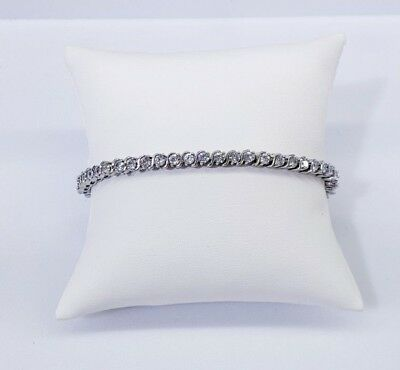 14Kt High Quality White Gold Finish Bracelet Micro-Pave Setting Vs1 Crystals