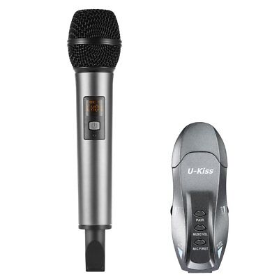 Wireless Mic Bluetooth Karaoke Microphone+USB Receiver Stage Presentation System