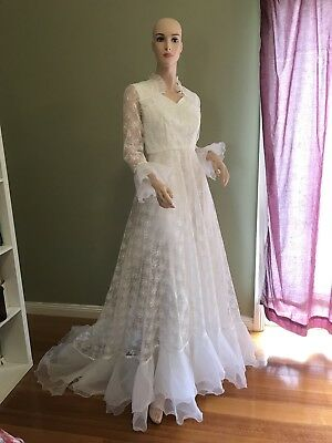 Vintage Jean Fox Wedding Dress Size 10