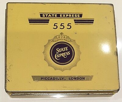 Vintage Collectable State Express 555 Cigarette Tin Ardath Tobacco London