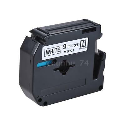 Compatible for Brother P-Touch Label Tape Cassette Black on White Cartridge C8X8
