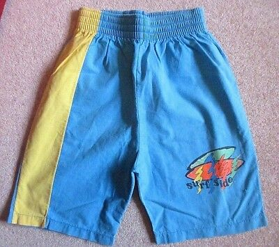 BHS  boys turquoise  vintage board surfing  summer shorts Age 12  height 152 cm